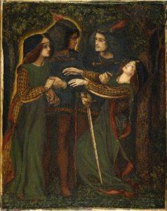 How They Met Themselves, ציורו של דנטה גבריאל רוסטי, 1860