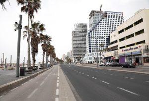 תל-אביב בזמן סגר הקורונה, אפריל 2020, צילום: גדעון מרקוביץ'