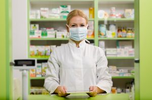 Winter, a pharmacy in Copenhagen, 2020 // Are you smiling at me, or are you scowling?