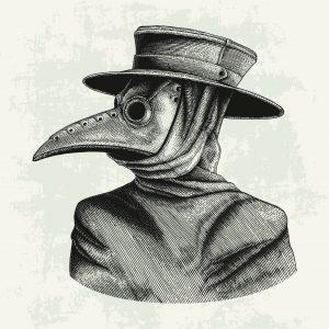 Back in vogue // The Black Death mask